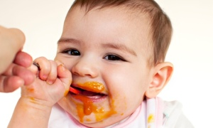 Researchers have studied babies' reactions to yummy foods. Photograph: Alamy
