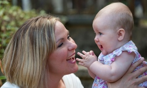 Rachel Chilver, who used hypnotherapy for the birth, with her six-month-old daughter, Winnie. Photograph: Graham Turner for the Guardian